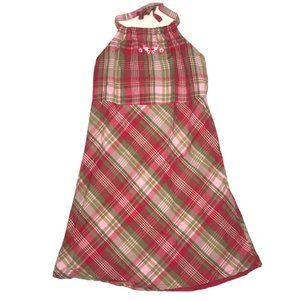 GAP Red Plaid Butterfly Halter Neck Dress 3T